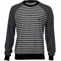 Emporio Armani StripeEagle Logo Men's Sweatshirt, Grey Mix