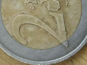 2 EURO coin 2001 France numerous DEFECTS collectible error liberte faulty stamp