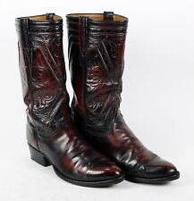"""Authentic Oxblood """" LUCCHESE """" Men's 8 EE Leather Western Cowboy Boots"""