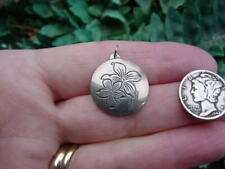 Vintage - KIRK Sterling silver - disc FLOWER CHARM