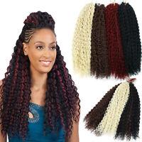 "18"" Synthetic Curly Twist Braids Weaves Water Wavy Braids Crochet Hair Extension"