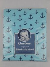 """Gerber Crib Sheet Anchors Fitted NEW 28"""" x 52"""""""