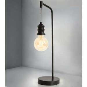 Smart Style Industrial Hanging Bulb Table Lamp Desk & Table At Home - Matt Black