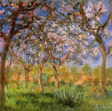 """Claude Monet Giverny in Springtime Oil Painting repro 24""""x24"""""""