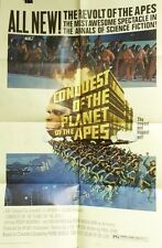 "Vtg 1972 ""Conquest Of The Planet Of The Apes"" Us 1Sh 27X41 Orig Movie Poster"