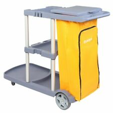 Commercial Cleaning Janitorial 3-Shelf Cart 550 Lbs Capacity Housekeeping Cart