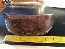 Fossil Brown leather Glasses Case Magnetic Closure Sunglasses