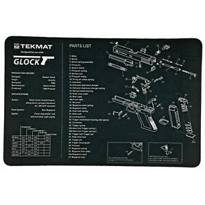 """Pistol Mat for Glock 11""""x17"""" Includes Small Microfiber TekTowel for Gun Cleaning"""