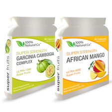 DOUBLE VALUE PACK - Garcinia Cambogia and African Mango - Weight Loss Diet Pills
