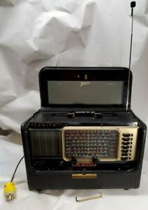 ZENITH Trans Oceanic TransOceanic Shortwave Radio with all papers T600 1955