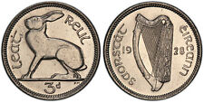 IRELAND REP. 1928 Nickel 3 Pence. PCGS PR65. KM 4. Rare in this quality.