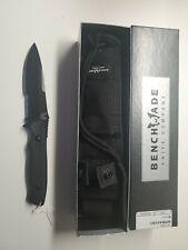 NEW - Benchmade 140SBK Nimravus Fixed Blade w/ Sheath  Black