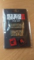 Red Dead Redemption II 2 Pin Set Collectable - Brand New Sealed Rockstar 2018