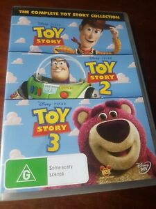 TOY STORY 1 2 & 3 Brand New 3-DVD COLLECTION REGION 4 oz seller 3-Disc