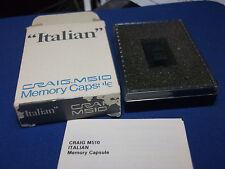 CRAIG VINTAGE M510 MEMORY CAPSULE MODULE ITALIAN BOXED FOR M100 NEW