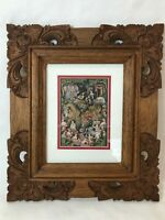 "Bali Original Traditional Painting Keliki Kawan Miniature Art, 4 1/2"" x 6 1/2"""