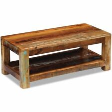 90cm Recycled Solid Wood Rustic Look Living Bed Room Sofa Side Tea Coffee Table