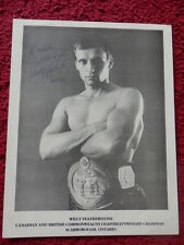 Boxer Willy Featherstone Autographed Photo