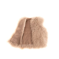 RRP €185 DOUUOD Shearling Gilet Size 6-8Y Open Front