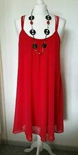 Ladies ASOS Red Strapped Party Dress