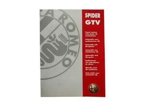 RADIO HANDBUCH CLARION PU2194 ORIGINAL ALFA ROMEO 916 GTV SPIDER ALLE SPRACHEN
