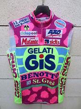 VINTAGE Maillot cycliste GIS GELATI GIRO Tour ITALIE 1990 maglia Giessegi shirt