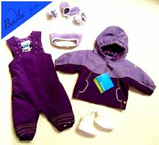 COLUMBIA Girls Snowsuit 6-12 months Toddler Jacket Bib/Pants Set Hat Mittens NEW