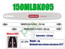 BARRA OREGON PRO-AM 150MLBK095 38cm PASSO 325' x SPESSORE 1.3mm x 64 MAGLIE