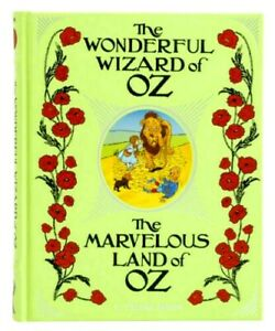 The Wonderful Wizard of Oz & Marvelous Land of Oz  Illustrated Leather Bound NEW