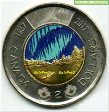 CANADA 2017 CANADIAN SPIRIT DANCE TOONIE GLOW IN DARK COLORIZED $2 DOLLAR COIN