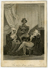 4 Antique Prints-GENRE-INTERIOR-MUSIC-Anonymous-ca. 1700-1840