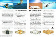 PUBLICITE ADVERTISING 085  1995  ROLEX  montres ( 2p) DATEJUST DAY-DATE PERPATUA