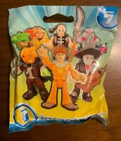 """New - IMAGINEXT FIGURE SHAOLIN MONK WARRIOR Blind Bag Series 7 FISHER PRICE 3"""""""