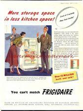 FRIGIDAIRE Refrigerators - Vintage Original 1951 ADVERTISEMENT. Free UK Post