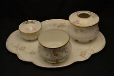 CFH GDA Limoges Dresser Set Hair Receiver Tray Covered Powder Box