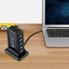7-port Jack USB 2.0 High Speed HUB + AC Power Adapter Black + USB Cable Hot 2017
