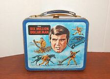 "Vintage 1970s ""The Six Million Dollar Man"" Lunchbox Lee Majors with Thermos"