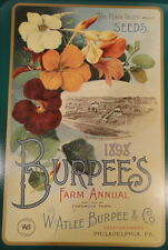 Burpee's 1898 Large Illustrated Floral Advertising Farm Annual NEW Metal Tray