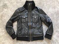 Echt Leder Jacke In Gutem Zustand Gr M Schwarz Damenjacke Echtlederjacke