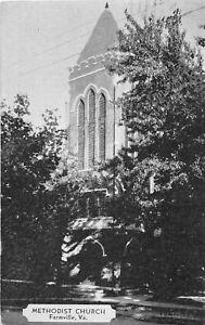 H48/ Farmville Virginia Postcard 1936 Methodist Church Building