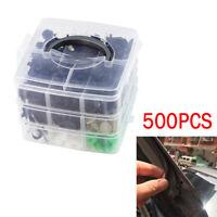 500X Car Fender Bumper Rivet Retainer Push Engine Cover Fastener Clips Accessory