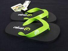 Cobian Kids Flip Flops Sz 10/11 Black Lime  Green
