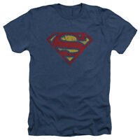 Superman CRACKLE S Licensed Adult Heather T-Shirt All Sizes