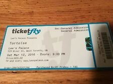 Tortoise Concert Ticket Lee's Palace Toronto ON Thrill Jockey