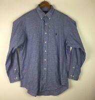 Ralph Lauren Men's Size 16 1/2 Yarmouth Button Front Long Sleeve Plaid Shirt
