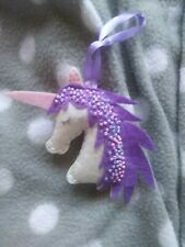 Handmade Unicorn Christmas Tree Decoration