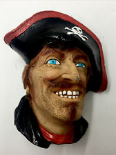 Vintage 3D ~ Pirate Head Bust - 6� Wall Hanging - Bossons?