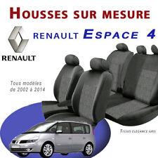 Housses Renault Espace IV Sur Mesure - Tissu Elegance Gris