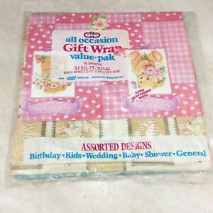 Cleo All Occasion GIft Wrap Paper Vintage Wedding Baby Birthday