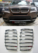 ABS Chrome Front Grille Grill Frame Cover Trim 2pcs For BMW X3 F25 2011-2015